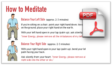 download handout on mediating at home, balancing channels of energy